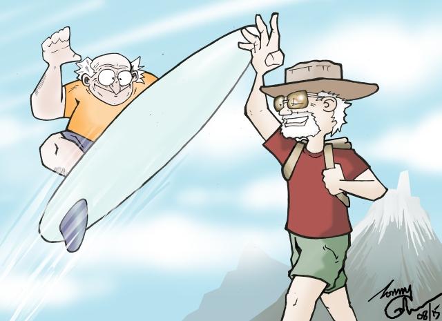 cloudsurfing walking