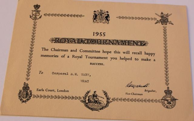 Royal Tournament Certificate